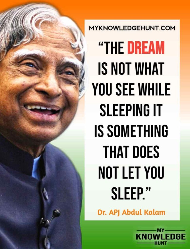 Dr. APJ Abdul Kalam Dream Quotes