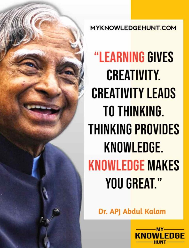 Quotes Of APJ Abdul Kalam On Life